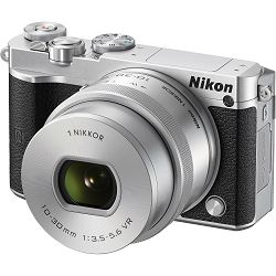 Nikon 1 J5 + 10-30mm f/3.5-5.6 Silver PD Zoom Mirrorless Digital Camera digitalni fotoaparat i 10-30 objektiv