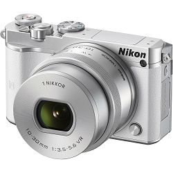 Nikon 1 J5 + 10-30mm f/3.5-5.6 White PD Zoom Mirrorless Digital Camera digitalni fotoaparat i 10-30 objektiv