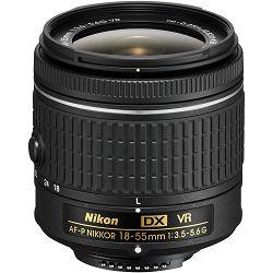 Nikon AF-P 18-55mm f/3.5-5.6G DX standardni objektiv auto focus Nikkor 18-55 f/3.5-5.6 F3.5-5.6 zoom lens (JAA827DA)