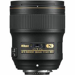 Nikon AF-S 28mm f/1.4E ED FX širokokutni objektiv fiksne žarišne duljine Nikkor 28 1.4 f/1.4 prime wide lens (JAA140DA)