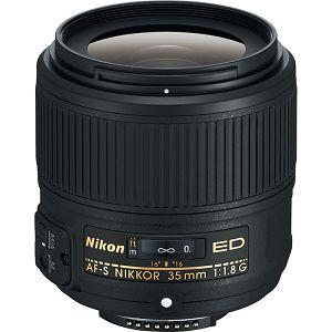 Nikon AF-S 35mm f/1.8G ED FX širokokutni objektiv fiksne žarišne duljine za Full Frame Nikkor 35 F 1.8G 1.8 F1.8 wide angle prime lens (JAA137DA)