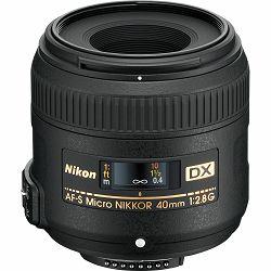 Nikon AF-S 40mm f/2.8G Micro DX Macro objektiv fiksne žarišne duljine Nikkor auto focus prime lens 40 2.8 G (JAA638DA)
