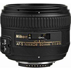Nikon AF-S 50mm f/1.4G FX standardni objektiv fiksne žarišne duljine Nikkor 50 f/1.4 1.4 G auto focus prime lens (JAA014DA)