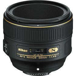 Nikon AF-S 58mm f/1.4G FX standardni objektiv Nikkor 58 f/1.4 G 1.4 F1.4 auto focus prime lens (JAA136DA) - PROMOCIJA 100 GODINA NIKONA