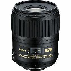 Nikon AF-S 60mm f/2.8G ED Micro FX Macro objektiv fiksne žarišne duljine Nikkor auto focus prime lens 60 2.8 G (JAA632DB)