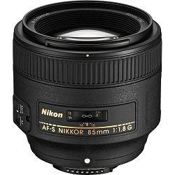 Nikon AF-S 85mm f/1.8G FX telefoto portretni objektiv Nikkor auto focus lens 85 1.8G F1.8 G (JAA341DA)