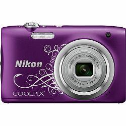 Nikon Coolpix A100 Purple Lineart ljubičasti digitalni kompaktni fotoaparat (VNA974E1)