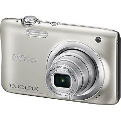 Nikon Coolpix A100 Silver srebreni digitalni kompaktni fotoaparat (VNA970E1)