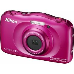 Nikon Coolpix W100 Pink VQA012E1 All Weather Waterproof Digital Camera rozi vodonepropusni vodootporni podvodni digitalni kompaktni fotoaparat
