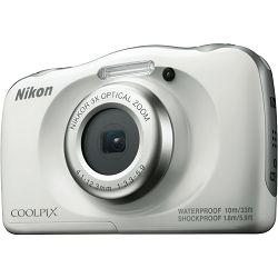 Nikon Coolpix W100 White VQA010E1 All Weather Waterproof Digital Camera bijeli vodonepropusni vodootporni podvodni digitalni kompaktni fotoaparat