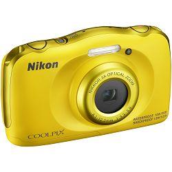 Nikon Coolpix W100 Yellow VQA013E1 All Weather Waterproof Digital Camera vodonepropusni žuti vodootporni podvodni digitalni kompaktni fotoaparat