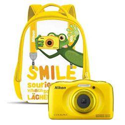 Nikon Coolpix W100 Yellow VQA013K001 Backpack KIT All Weather Waterproof Digital Camera žuti vodonepropusni vodootporni podvodni digitalni kompaktni fotoaparat