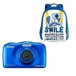 Nikon Coolpix W150 Blue Backpack Kit All Weather Waterproof Camera vodootporni podvodni digitalni kompaktni fotoaparat (VQA111K001)