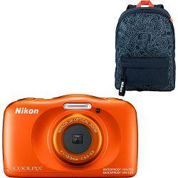 Nikon Coolpix W150 Orange Backpack Kit All Weather Waterproof Camera vodootporni podvodni digitalni kompaktni fotoaparat (VQA112K001)