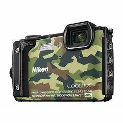 Nikon Coolpix W300 Camouflage kamuflažni digitalni kompaktni vodootporni fotoaparat 16MPx 4K UHD 5x zoom (VQA073E1)