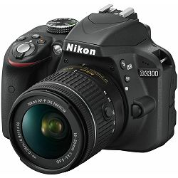 Nikon D3300 + AF-P 18-55 KIT DSLR Digitalni fotoaparat s objektivom Nikkor DX 18-55mm f/3.5-5.6 Camera with lens (VBA390K010)