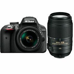 Nikon D3300 kit AF-P 18-55VR + 55-300VR double zoom kit AF-P 18-55VR + 55-300VR (VBA390K006-1)