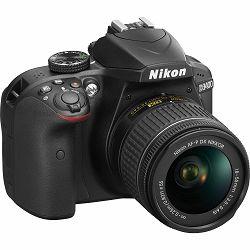 Nikon D3400 + AF-P 18-55 (non VR) KIT DX DSLR Digitalni fotoaparat s objektivom 18-55mm f/3.5-5.6 zoom lens (VBA490K002)