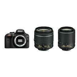 Nikon D3400 + AF-P 18-55 VR + AF-S 55-200 VR II KIT DSLR Digitalni fotoaparat 18-55mm f/3.5-5.6 55-200mm f/4-5.6 VR APS-C DX (VBA490K001-1)