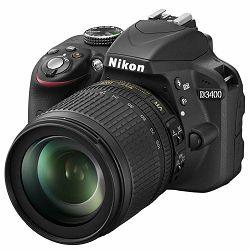 Nikon D3400 + AF-S 18-105VR f/3.5-5.6 G DX DSLR Digitalni fotoaparat s objektivom 18-105mm F3.5-5.6 18-105 VR (VBA490K003)