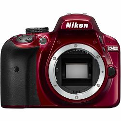 Nikon D3400 Body Red crveni DX DSLR Digitalni fotoaparat tijelo (VBA491AE)