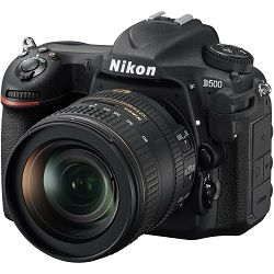 Nikon D500 + AF-S 16-80 KIT DX 4K UHD 20.9MP DSLR Camera Digitalni fotoaparat i objektiv 16-80mm 2.8-4.0 f/2.8-4E ED (VBA480K001) - TRENUTNE UŠTEDE
