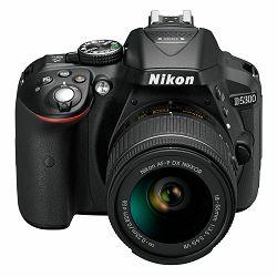 Nikon D5300 + AF-P 18-55 VR KIT Black DSLR fotoaparat AF-P 18-55VR (VBA370K007)