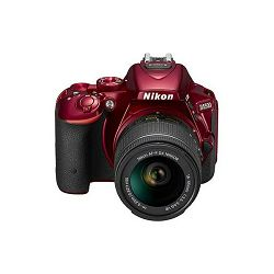 Nikon D5500 + AF-P 18-55 VR Red KIT VBA441K003 DSLR digitalni fotoaparat Camera with 18-55VR f/3.5-5.6 lens APS-C DX objektiv