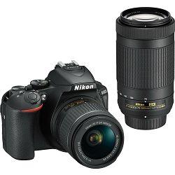 Nikon D5600 + AF-P 18-55 VR + AF-P 70-300 VR DX KIT DSLR Digitalni fotoaparat Camera with 18-55mm f/3.5-5.6 70-300mm lens + GRATIS RUKSAK - PROMOCIJA 100 GODINA NIKONA