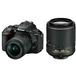 Nikon D5600 + AF-P 18-55 VR + AF-S 55-200 VR II DX KIT DSLR Digitalni fotoaparat s dva objektiva 18-55mm f/3.5-5.6 i 55-200mm (VBA500K001-1)