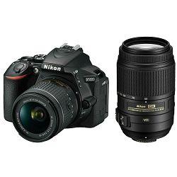 Nikon D5600 + AF-P 18-55 VR + AF-S 55-300 VR DX KIT DSLR Digitalni fotoaparat s dva objektiva 18-55mm f/3.5-5.6 i 55-300mm (VBA500K001-2)
