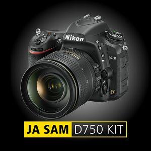 Nikon D750 + AF-S 24-120mm f/4G VR komplet DSLR Digitalni fotoaparat i objektiv 24-120 F4.0 (VBA420K001) - TRENUTNE UŠTEDE
