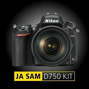 Nikon D750 + AF-S 24-70 f/2.8G ED KIT DSLR Full Frame fotoaparat i standardni zoom objektiv 24-70mm 2.8 - PROMOCIJA 100 GODINA NIKONA