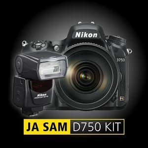 Nikon D750 + AF-S 85mm f/1.8G + SB-700 fotoaparat + objektiv 85 1.8 + bljeskalica SB700