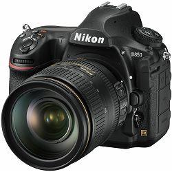 Nikon D850 + AF-S 24-120 f/4G ED VR KIT 4K 9fps 45.7MPpx FX Full Frame DSLR Digitalni fotoaparat s Nikkor 24-120mm objektivom (VBA520K001)