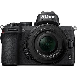 Nikon Z50 + Z 16-50mm f/3.5-6.3 VR + Z 50-250mm f/4.5-6.3 VR DX KIT Mirrorless Digital Camera bezrcalni digitalni fotoaparat tijelo s objektivima (VOA050K002)