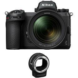 Nikon Z7 II + 24-70mm f/4 S + FTZ Adapter KIT Mirrorless Digital Camera bezrcalni digitalni fotoaparat tijelo s objektivom (VOA070K003)