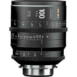 NiSi 100mm T2.0 F3 Prime Cinema Lens PL Mount Cine video filmski objektiv