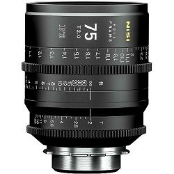 NiSi 75mm T2.0 F3 Prime Cinema Lens PL Mount Cine video filmski objektiv