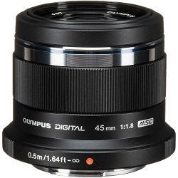 Olympus 45mm f/1.8 MSC AF black crni telefoto objektiv M.Zuiko Digital ET-M4518 1:1.8 Micro Four Thirds MFT (V311030BE000)