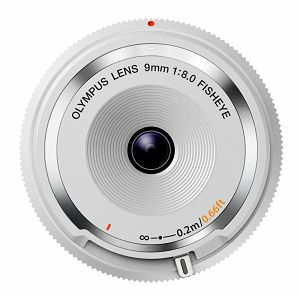 Olympus Body Cap Lens 9mm 1:8.0 fisheye / BCL-0980 white Micro Four Thirds MFT - PEN Camera objektiv lens lenses V325040WW000