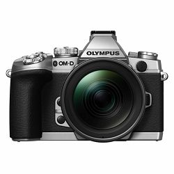 Olympus E-M1 Body silver + EZ-M1240PRO black  incl. Charger, Battery & Lens Hood Micro Four Thirds MFT - OM-D Camera digitalni fotoaparat V207017SE000
