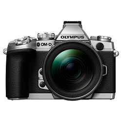 Olympus E-M1 Body silver + EZ-M1250 black  incl. Charger & Battery Micro Four Thirds MFT - OM-D Camera digitalni fotoaparat V207015SE000