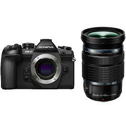 Olympus E-M1 II + 12-100mm PRO Black digitalni fotoaparat s objektivom EZ-M12-100 Mirrorless MFT Micro Four Thirds Digital Camera including Charger Battery and Lens Hood (V207060BE010)