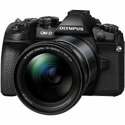 Olympus E-M1 II + 12-200mm f/3.5-6.3 Black crni digitalni fotoaparat s objektivom EZ-M1220 E-M1II Mirrorless MFT Micro Four Thirds Digital Camera (V207062BE00)