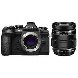 Olympus E-M1 II Body black + 12-40mm PRO (EZ-M1240PRO) OM-D E-M1II crni digitalni fotoaparat i objektiv Mirrorless Micro Four Thirds Digital Camera (V207061BE000)