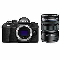 Olympus E-M10 II + 12-50mm Black digitalni fotoaparat s objektivom Mirrorless MFT Micro Four Thirds Digital Camera including Charger and Battery + EZ 1250 blk (V207050BE010)