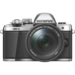 Olympus E-M10 II + 14-150 Silver srebreni E-M10II 1415 Kit slv/blk 14-150mm Mark EZ-M4015 R black incl. Charger & Battery Micro Four Thirds OM-D Camera digitalni fotoaparat V207054SE000