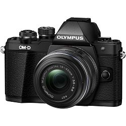 Olympus E-M10 II + 14-42 Black crni E-M10II 1442 IIR Kit blk/blk 14-42mm Mark EZ-M1442 IIR black incl. Charger + Battery Micro Four Thirds MFT OM-D Camera digitalni fotoaparat V207051BE000
