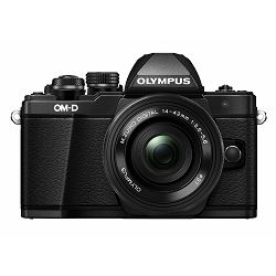 Olympus E-M10 II +14-42 EZ Black crni E-M10II Pancake Zoom Kit blk/blk 14-42mm EZ-M1442EZ black incl. Charger & Battery Micro Four Thirds OM-D Camera digitalni fotoaparat V207052BE000